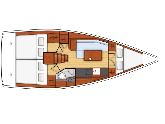 Oceanis 38.1 (La Rose) Plan image - 4