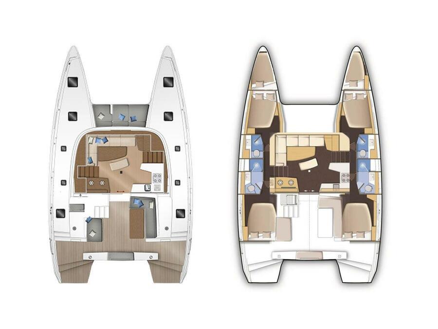 Lagoon 42 (Sea Hawk) Plan image - 9