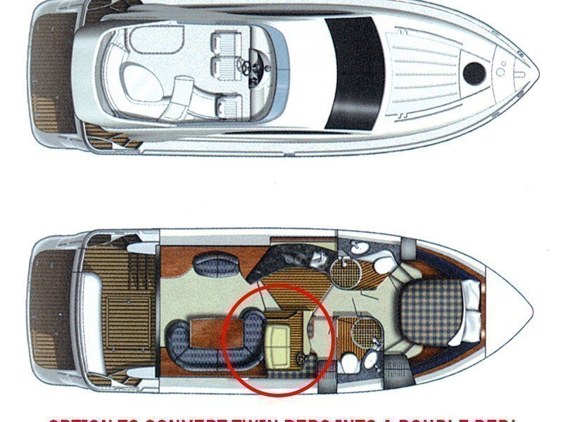 Fairline Phantom 40 (Fair Play (Jet ski - option with extra charge)) Plan image - 9