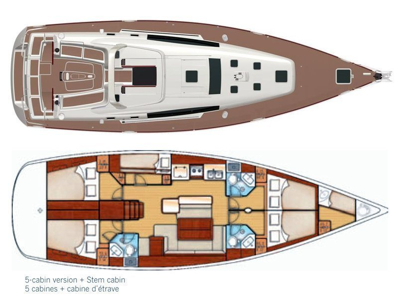 Oceanis 50 (Pika II (Bowthruster, Sails 2020, AC + generator)) Plan image - 20