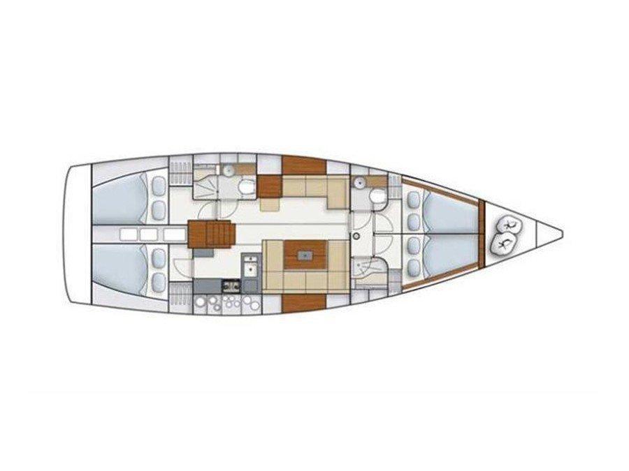 Hanse 445 (Maja lll - BT) Plan image - 16
