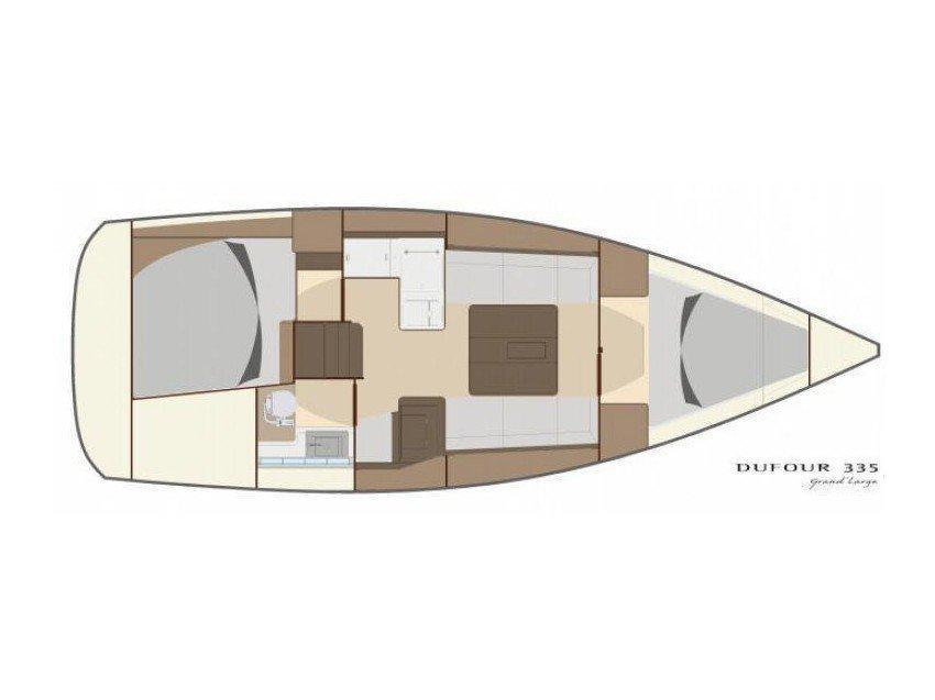 Dufour 335 GL (Lara (webasto, solar panel, shallow draft)) Plan image - 22