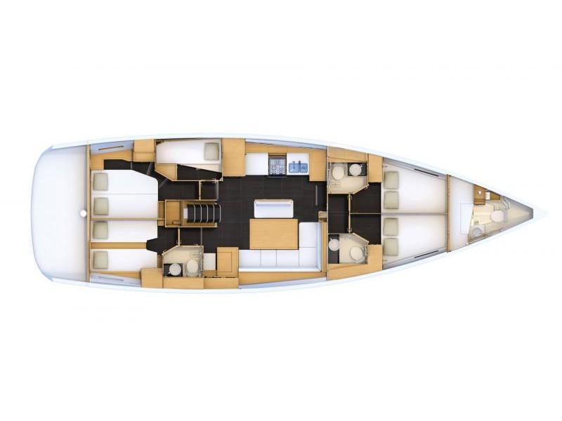 Jeanneau 54 (ath5403) Plan image - 9