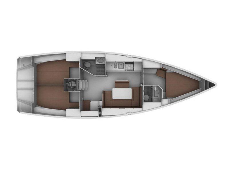 Bavaria 40 CN (MH 34) Plan image - 3