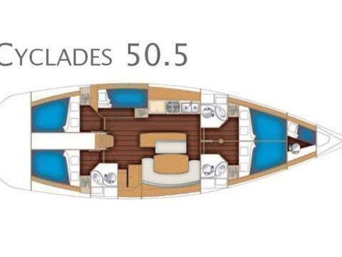Cyclades 50.5 (White Pearl) Plan image - 3