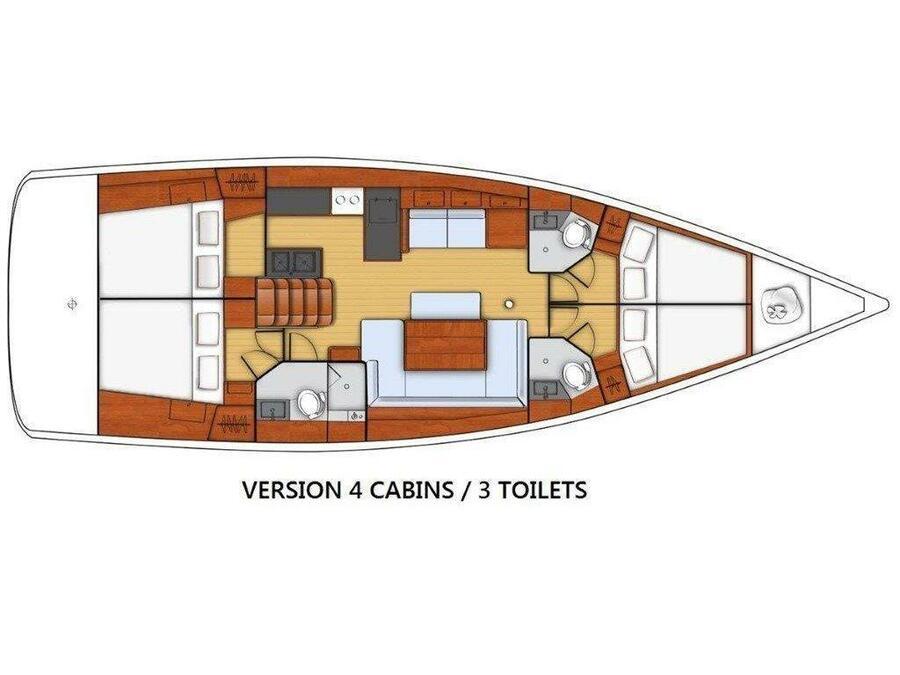Oceanis 48 (Xantipa) Plan image - 1