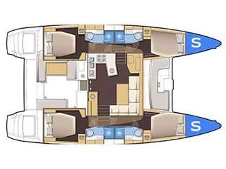 Lagoon 450  Flybridge (omiros) Plan image - 1