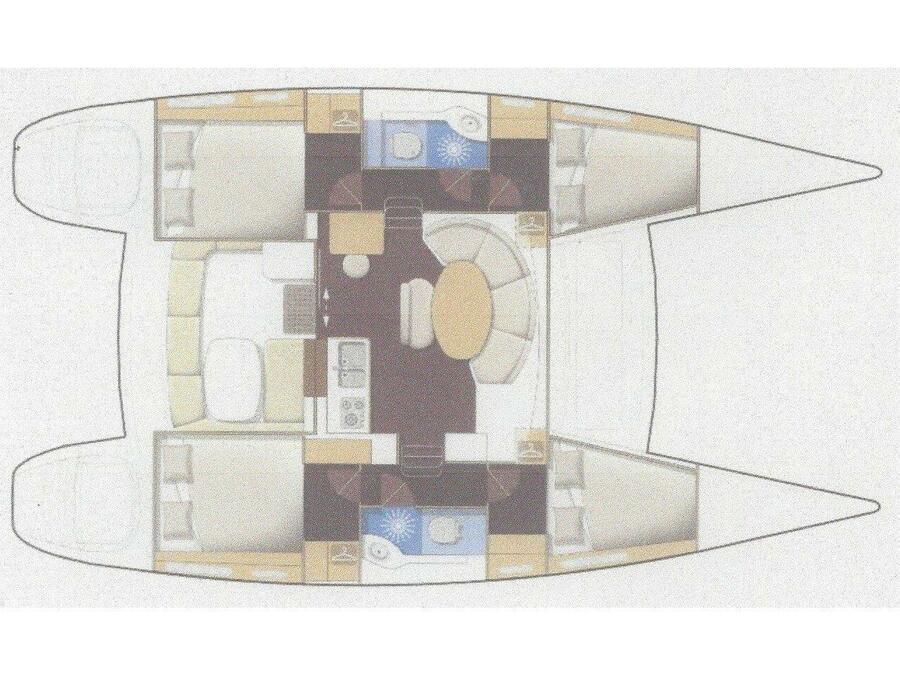 Lagoon 380 S2 (Gallifrey) Plan image - 3