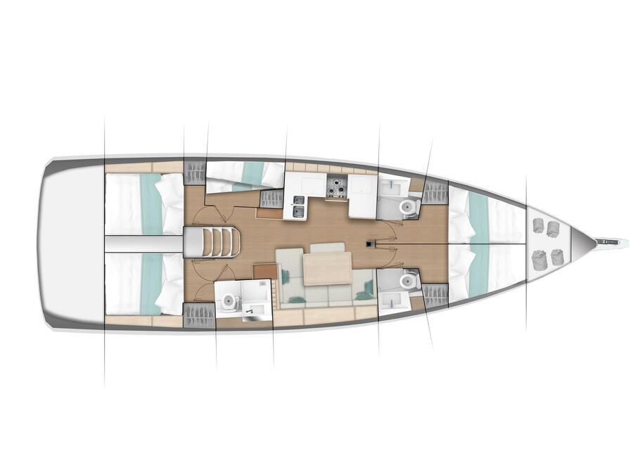 Sun Odyssey 490 (Frida) Plan image - 1