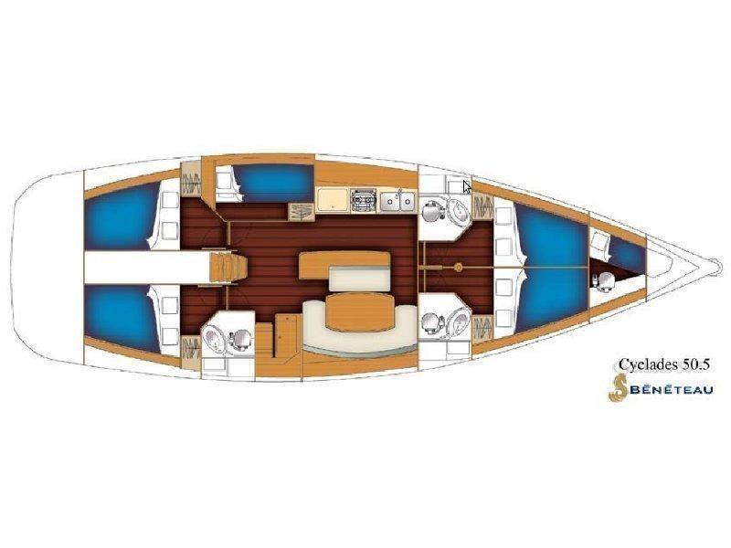 Cyclades 50.5 (LEA) Plan image - 18