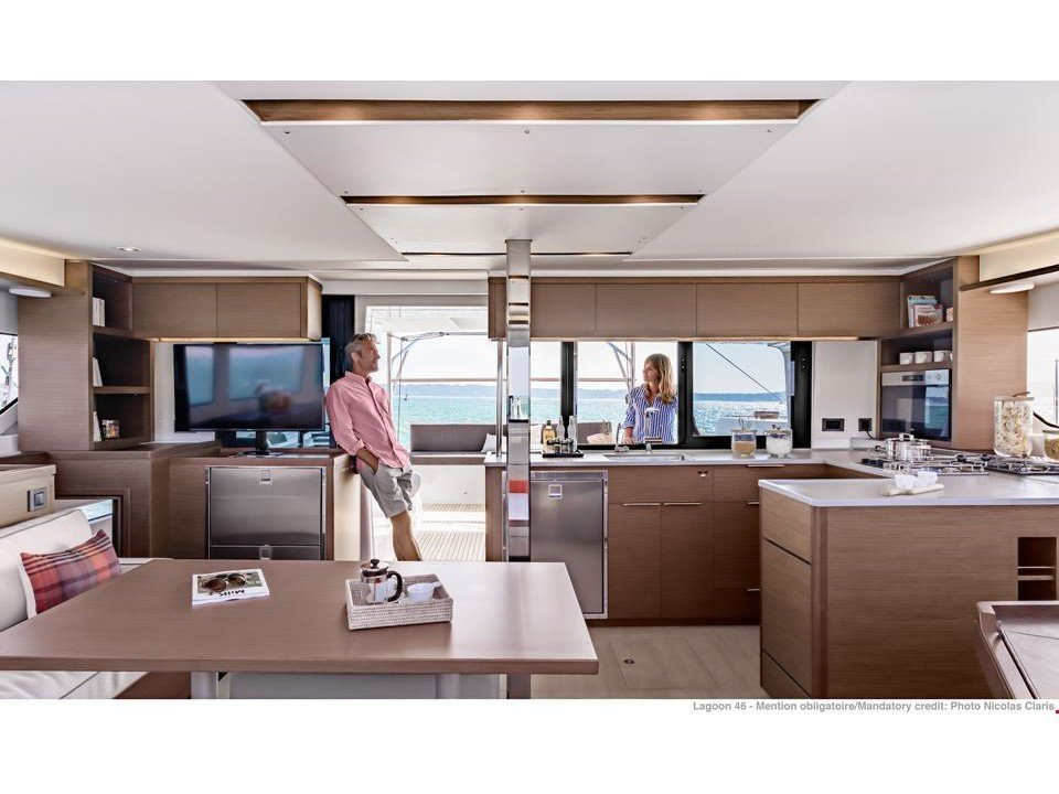 Lagoon 46 NEW (BRIGHTER STAR feat. Water Maker, A/C and Generator) Interior image - 2