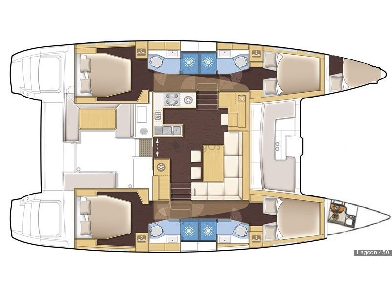 Lagoon 450  Flybridge (Lag45002) Plan image - 8