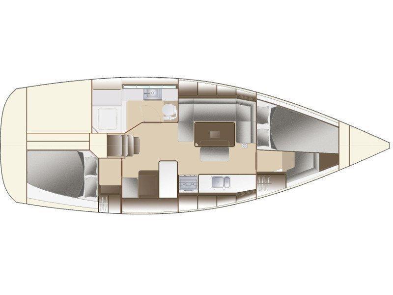 Dufour 380 Grand Large (Lika FB) Plan image - 6