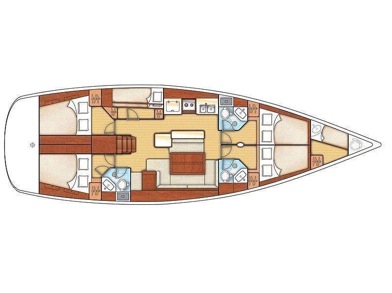Oceanis 50 Family (Ganges) Plan image - 12