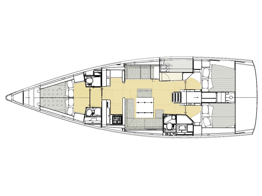 Dufour 520 GL (Cala di Volpe) Interior image - 1