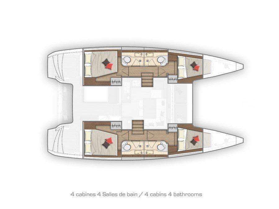 Lagoon 40 (NINA II AC salon + generator) Plan image - 38