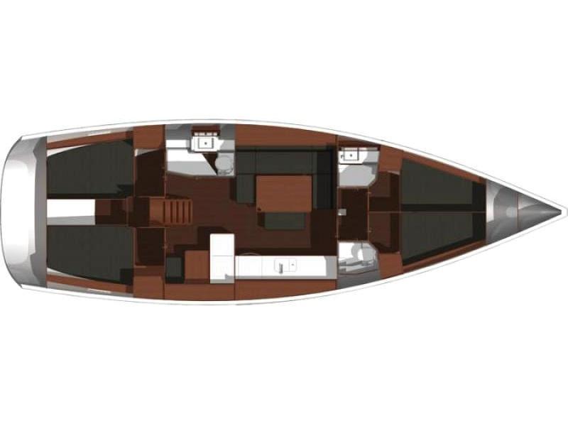 Dufour 450 GL (Dans) Plan image - 32