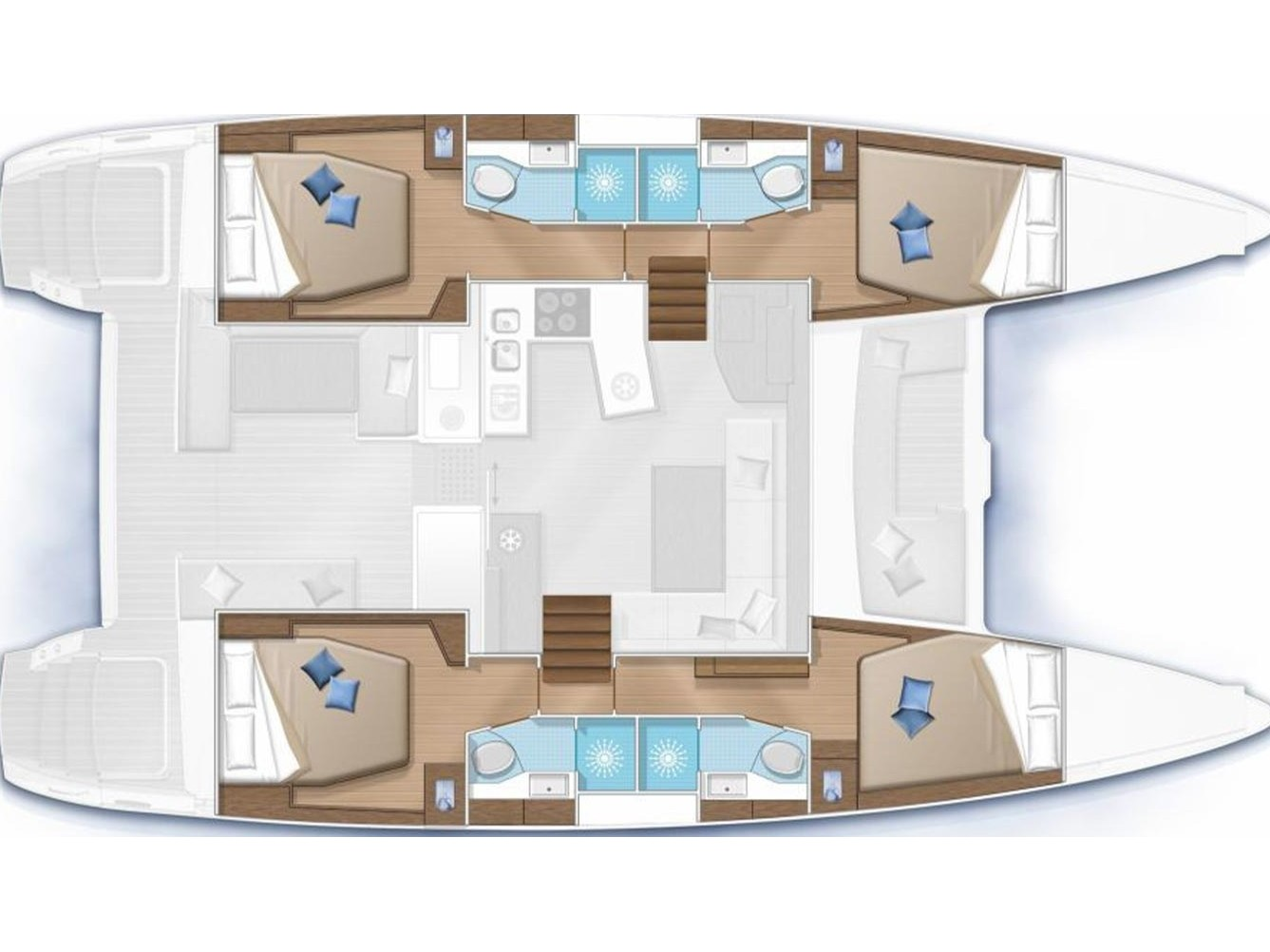 Lagoon 450  Flybridge (LLYN) Plan image - 18