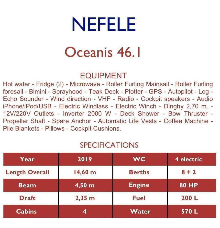 Oceanis 46.1 - 4 cab (Nefele)  - 2