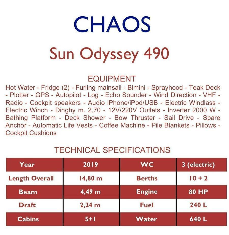 Sun Odyssey 490 (Chaos)  - 1