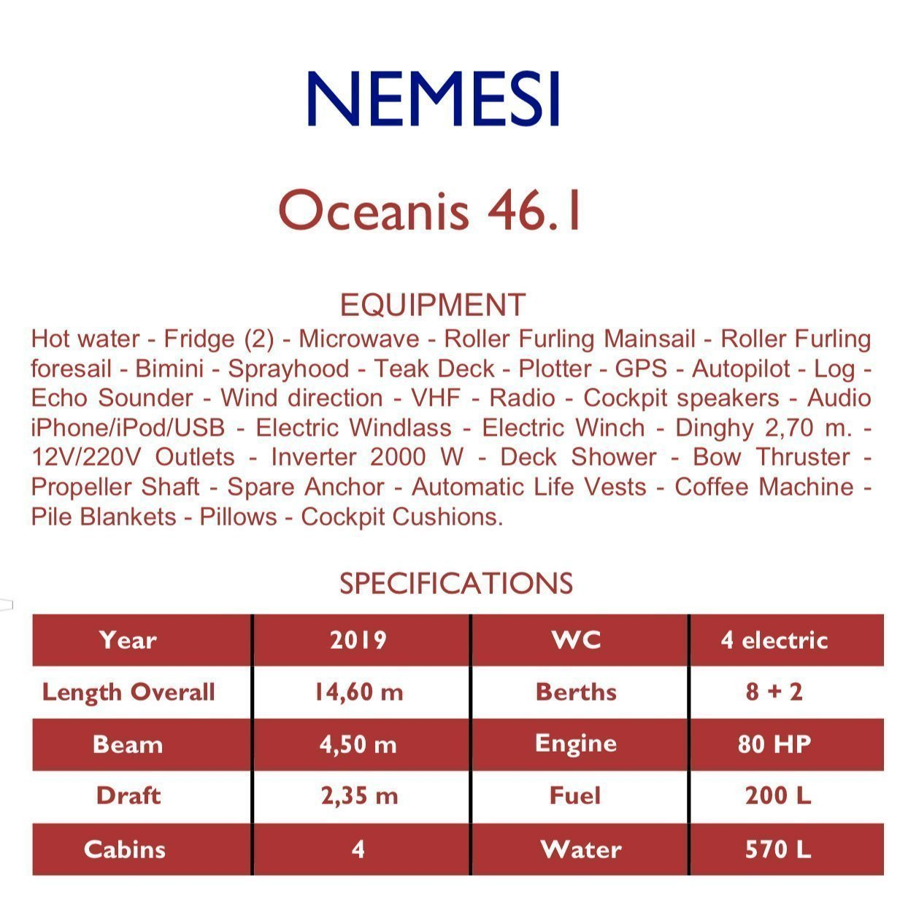 Oceanis 46.1 - 4 cab (Aletheia)  - 12
