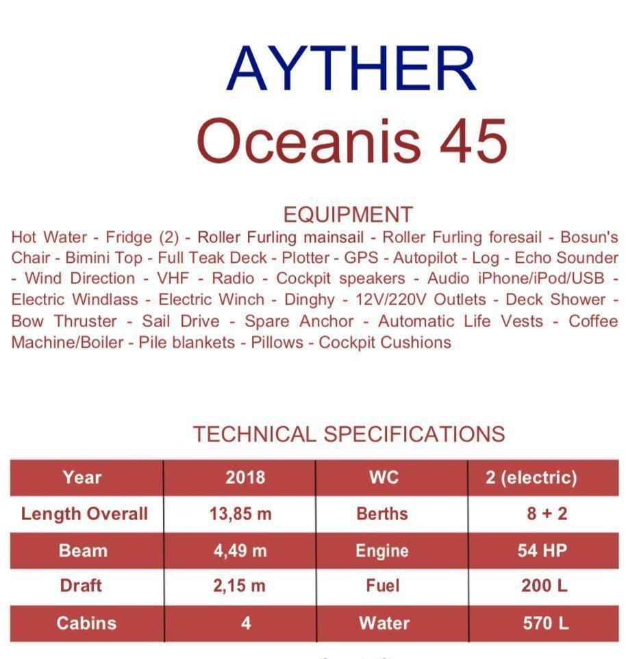Oceanis 45 (Ayther)  - 2