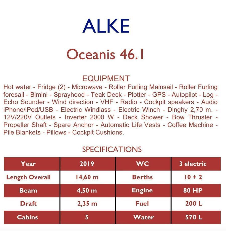 Oceanis 46.1 (Alke)  - 2