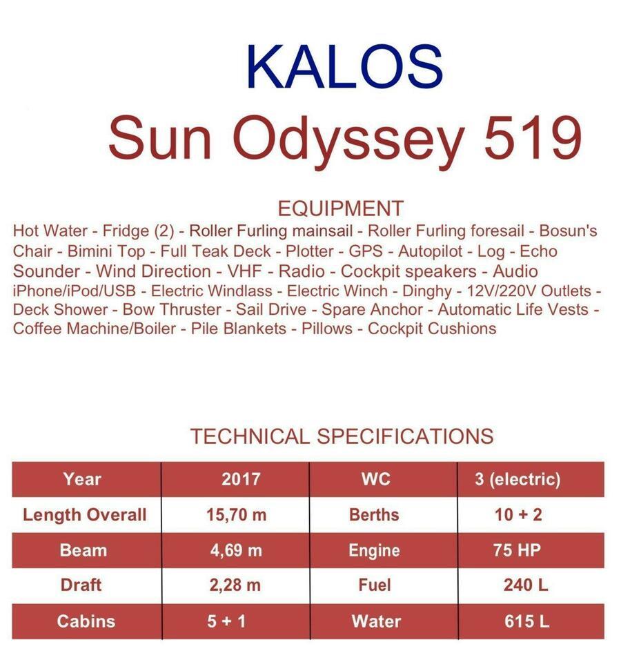 Sun Odyssey 519 (Kalos)  - 3