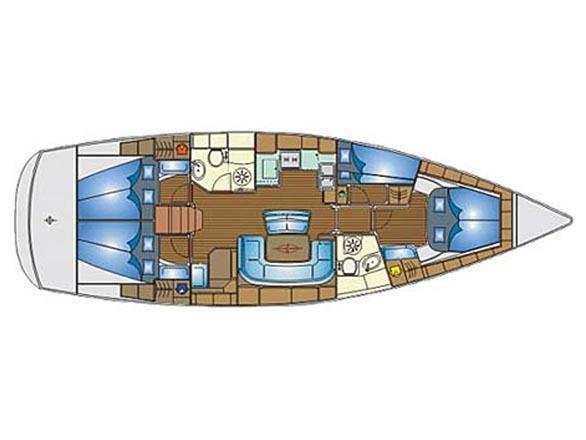 Bavaria 46 Cruiser Veritas edition (lucia) Plan image - 1