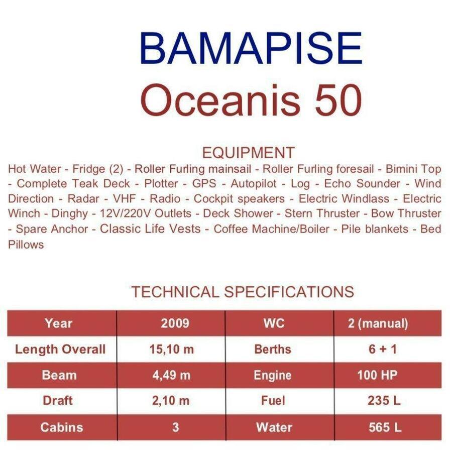 Oceanis 50 (Bamapise)  - 4