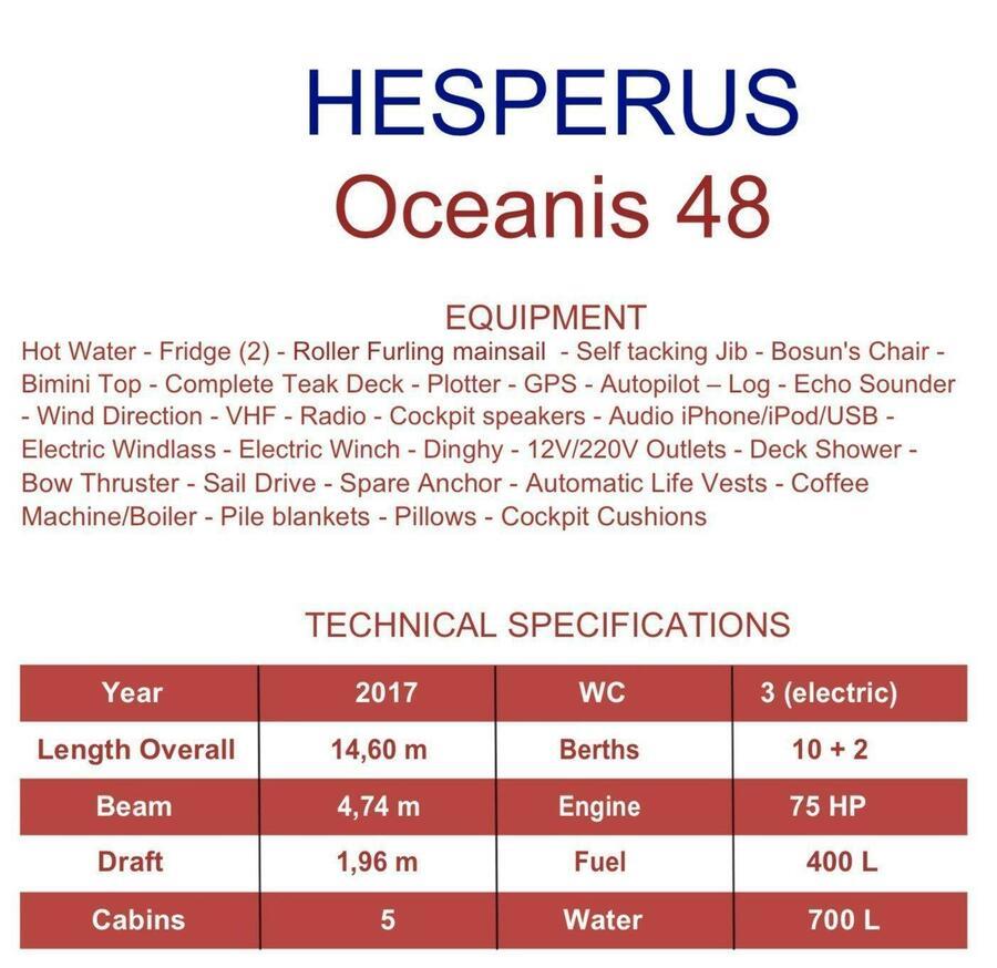 Oceanis 48 (Hesperus)  - 3