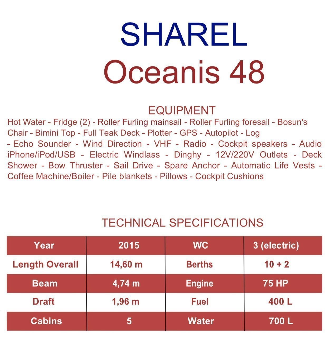 Oceanis 48 (Sharel)  - 1