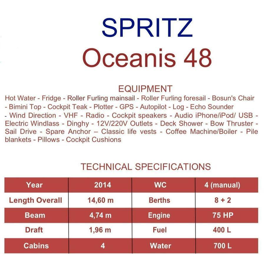 Oceanis 48 (4cab) (Spritz)  - 0