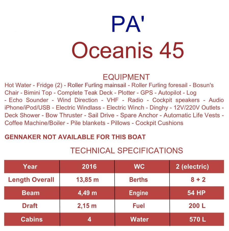 Oceanis 45 (Pa')  - 3