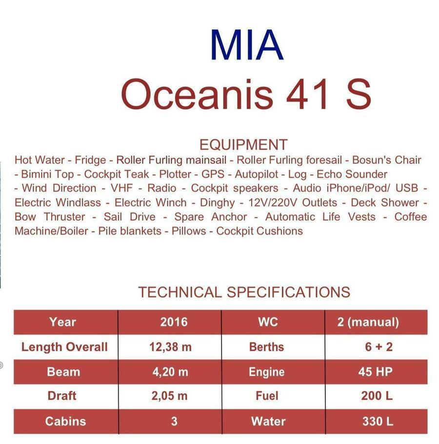 Oceanis 41 Style (Mia)  - 1