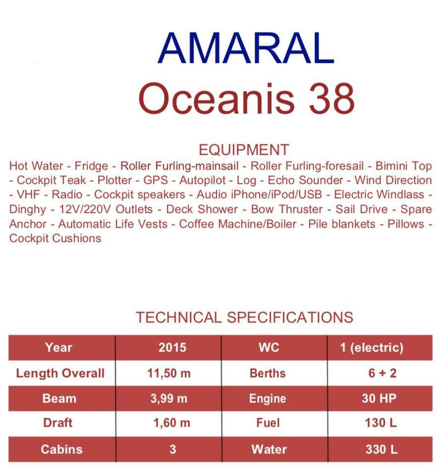 Oceanis 38 (Amaral)  - 10