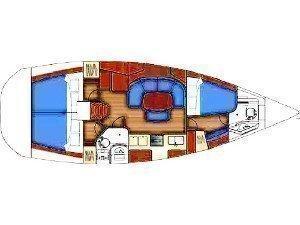 Oceanis 393 (C'alma) Plan image - 1