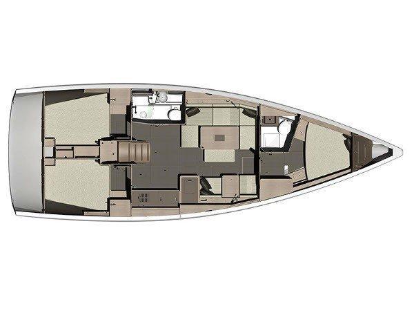 Dufour 410 (3c-2h) (Mon Ami) Plan image - 1