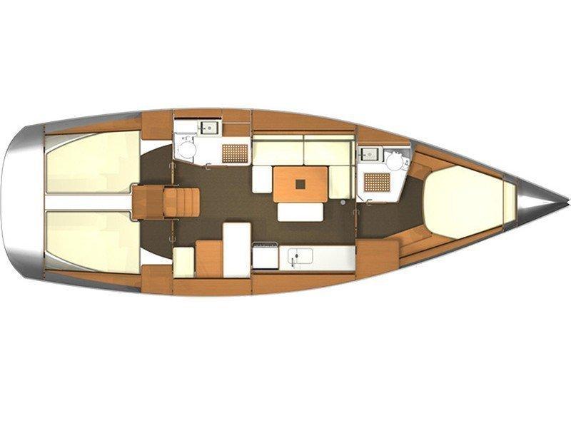 Dufour 405 BM (Pangaea ) Plan image - 2