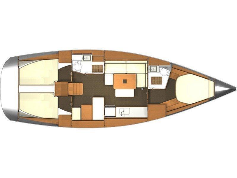 Dufour 405 RM (Kroya I) Plan image - 2