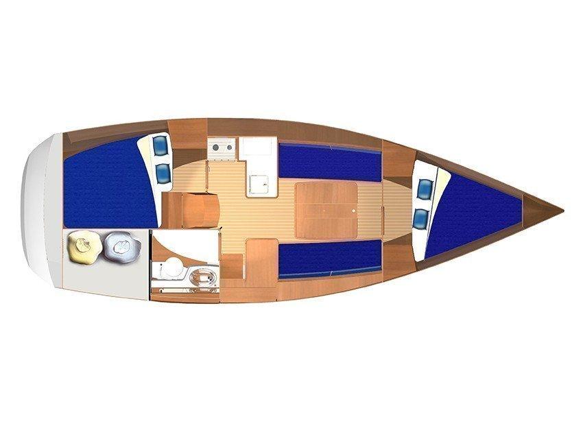 Dufour 325 (Bijoux) Plan image - 2