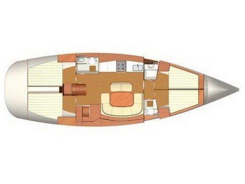 Dufour 455 BM (Cara Mia) Plan image - 2
