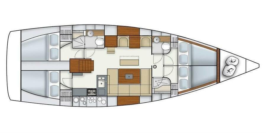 Hanse 445 (Biska) Plan image - 14