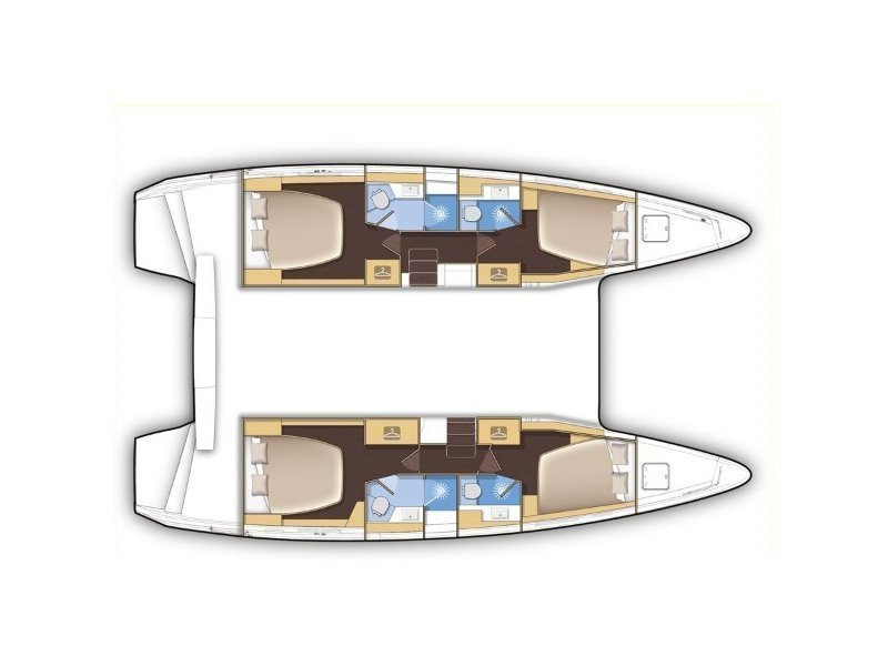 Lagoon 42 (ROYAL SALUTE AC Generator Dinghy with Console OB 20HP) Plan image - 110
