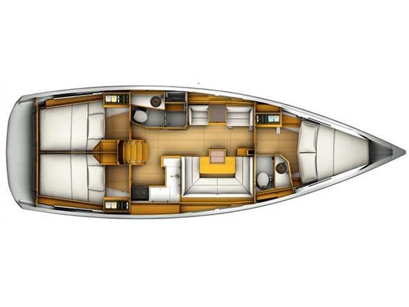 Sun Odyssey 419 (mango tango) Plan image - 9