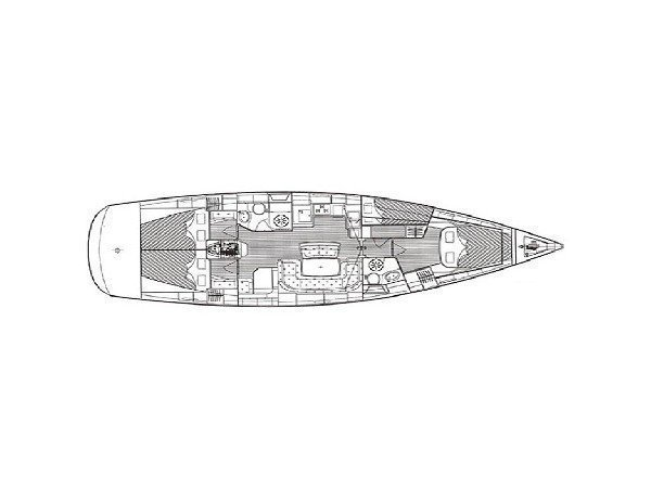 Bavaria 46 Cruiser (La Luna) Plan image - 2