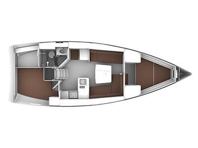 Bavaria Cruiser 37 (2) (Spagi & Lidi) Plan image - 1