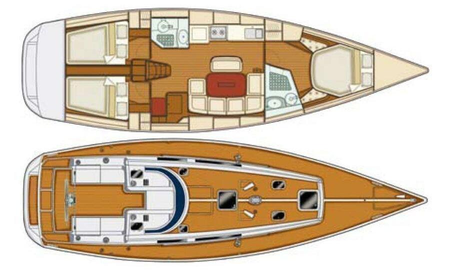 Grand Soleil 43 (Skalice (Sails 2016, Bowthruster)) Plan image - 5