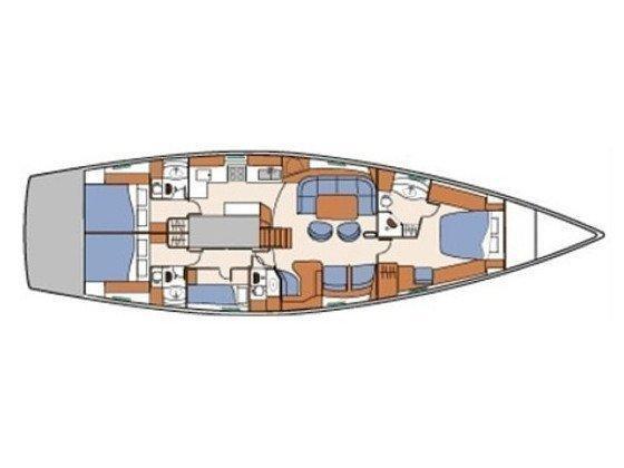 Beneteau 57 (Tajna) Plan image - 16