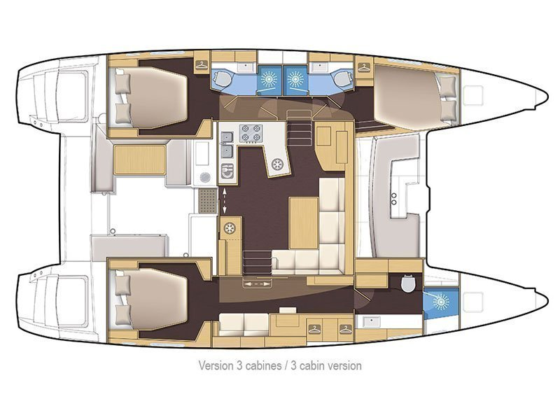 Lagoon 450 F Luxury (BRIGHT MOON) Plan image - 14